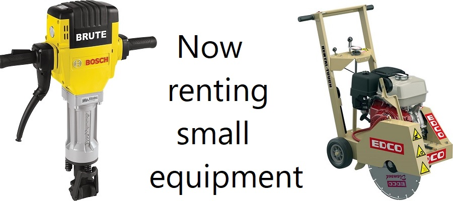Now renting small equipment at Tyler Farms